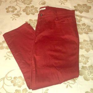 City fit Liz Claiborne red/orange suede jeans